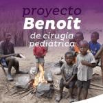 folleto del proyecto Benöit representado por varios niños