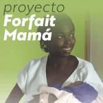 enfermera sujetando un niño nacido gracias al proyecto forfait mama